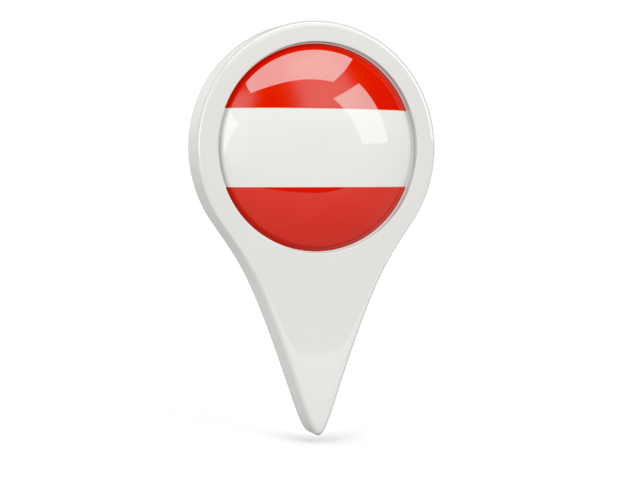 austria round pin icon 640