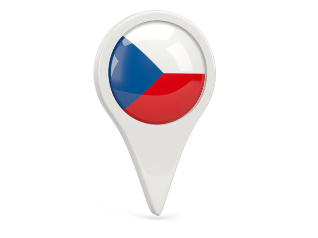 czech republic round pin icon 640