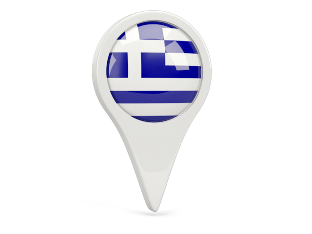 greece round pin icon 640
