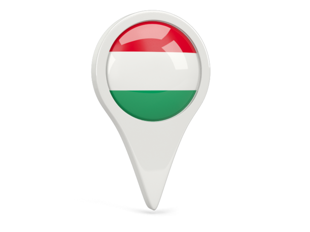 hungary round pin icon 640