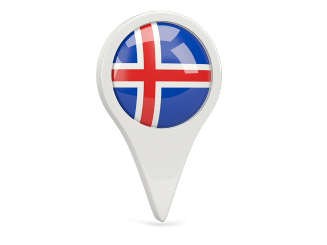 iceland round pin icon 640