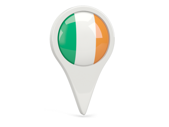 ireland round pin icon 640