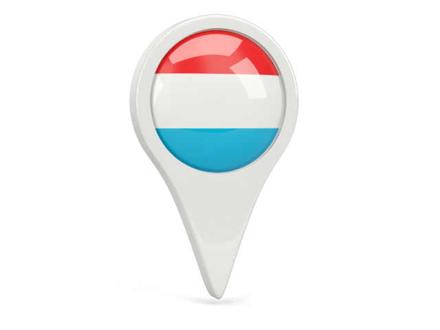 luxembourg round pin icon 640