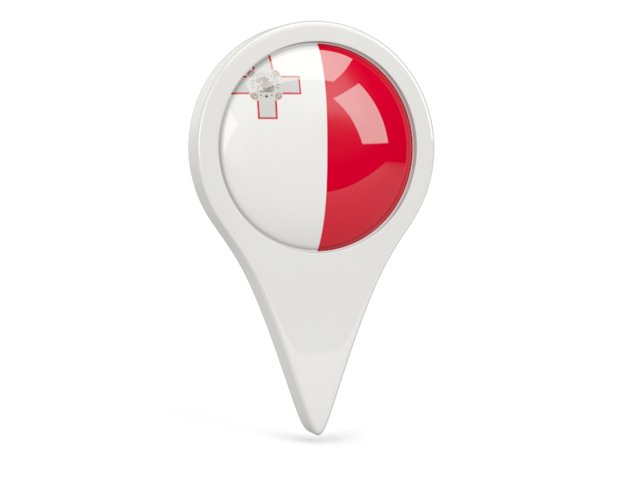 malta round pin icon 640