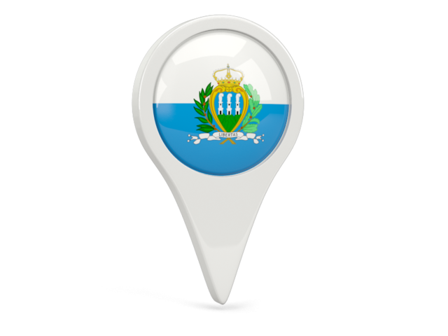 san marino round pin icon 640