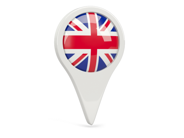 united kingdom round pin icon 640