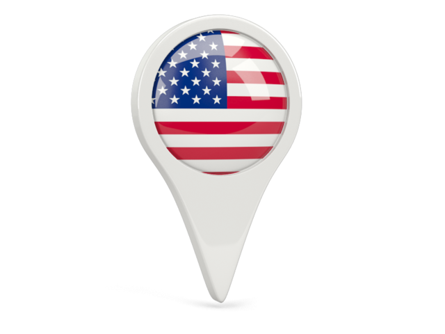united states of america round pin icon 640